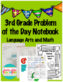 3rd Grade Problem of the Day Notebook- 122 pages! Math and