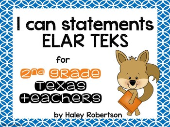 "2nd Grade ELAR ""I can"" statements- Circle pattern (using TEKS)"