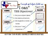 3rd Grade ELAR TEKS: Objectives Bulletin Board Bundle