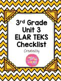 3rd Grade ELAR Unit 3 TEKS Checklist