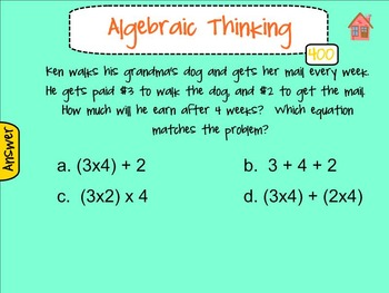 3rd Grade EOG Math Jeopardy