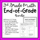 3rd Grade Math End of Grade (EOG) Test Prep GROWING Bundle