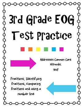 3rd Grade EOG Test Prep Fractions Review 3NF