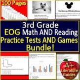 3rd Grade NC EOG Test Prep Math and Reading Practice + Games Bundle NC Ready EOG