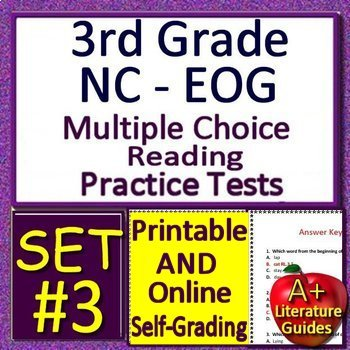 3rd Grade EOG Test Prep NC READY ELA Practice Tests - Printable AND Self-Grading