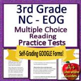 3rd Grade NC EOG Reading Test Prep: Printable & SELF-GRADI