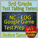 NC Reading EOG Test Prep 3rd Grade Test Taking Terms GAME FOR GOOGLE