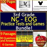 3rd Grade EOG Test Prep NC READY Practice Tests and Games Bundle for ELA