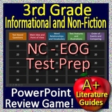 NC Reading EOG Test Prep 3rd Grade NC EOG Reading Informational Text Game