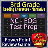 3rd Grade EOG Test Prep NC READY Reading Literature and Narrative Review Game