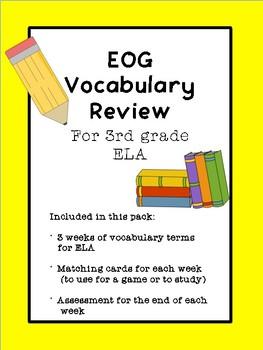 3rd Grade EOG Vocabulary Review