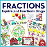 3rd Grade EQUIVALENT FRACTION BINGO Common Core Math Center