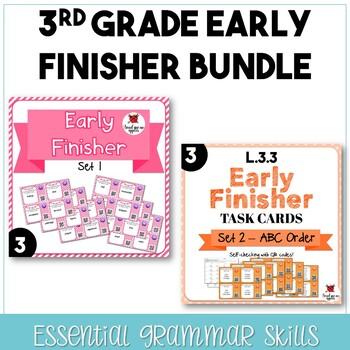 3rd Grade Early Finisher Task Cards **GROWING BUNDLE**