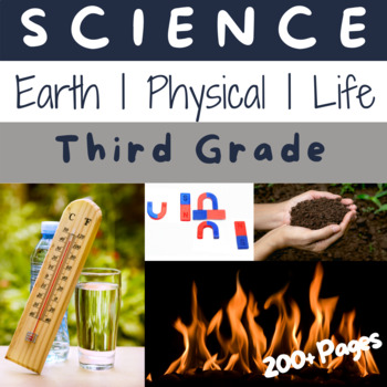 3rd Grade ULTIMATE Science Bundle: Earth, Physical and Life Science for the Year