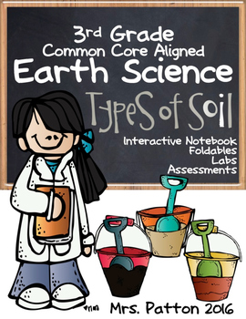 3rd Grade Earth Science Soil, Weathering, Fossils - Assessments, Labs