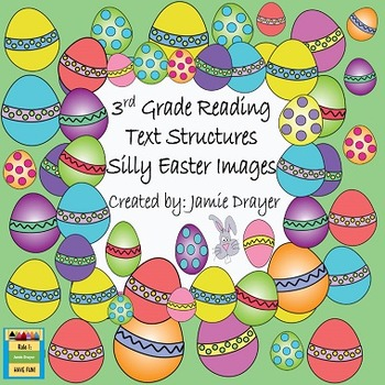 3rd Grade Silly Easter Holiday Images: Reading and Language Arts Skills