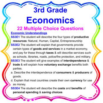 3rd Grade Economics