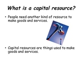 3rd Grade Economics Capital Resources Powerpoint