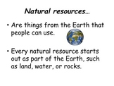 3rd Grade Economics Natural Resources Powerpoint