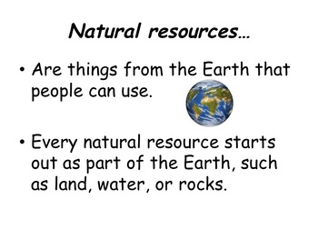 3rd Grade Economics Natural Resources Powerpoint by The Evolving Teacher