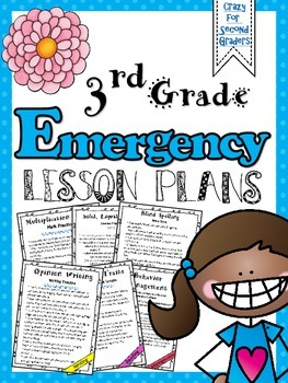 3rd Grade Emergency Lesson Plans