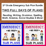 3rd Grade Emergency Sub Plan Bundle (2 FULL days!)