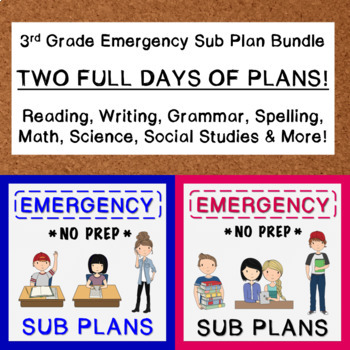 3rd Grade Emergency Sub Plan Bundle (2 FULL days!)