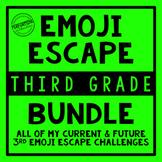 3rd Grade Emoji Escape Bundle