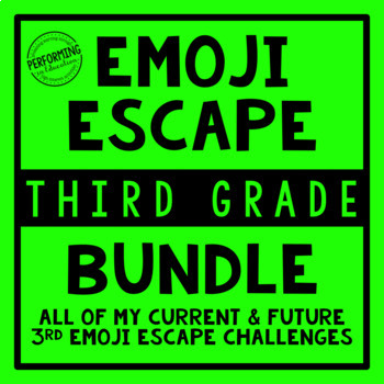 3rd Grade Emoji Escape Bundle
