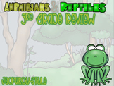 Reptiles & Amphibians 3rd Grade Math Review Game