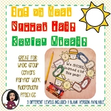 3rd Grade End of Year Math Review Wreath Activity