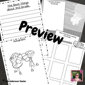 3rd Grade End of Year Memory Book - No Prep