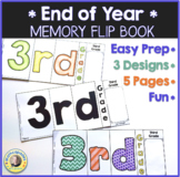 End of Year Memory Flip Book Activity 3rd Grade
