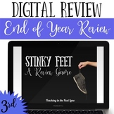 Distance Learning 3rd Grade End of Year Review Game Stinky Feet