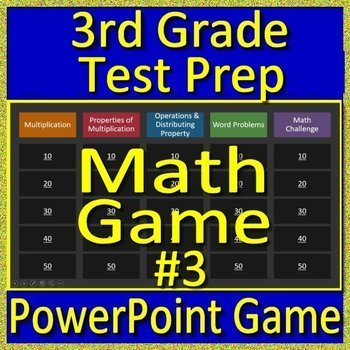 3rd Grade Beginning of the Year Math Game and Test Prep Back to School #3