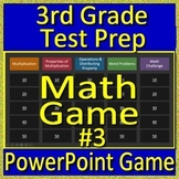 3rd Grade Test Prep Math Game #3 Spiral Review Common Core Smarter Balanced