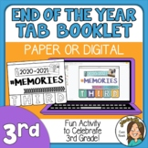 3rd Grade End of the Year Memory Activity 2021 Print or Di