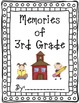 3rd Grade End of the Year Memory book