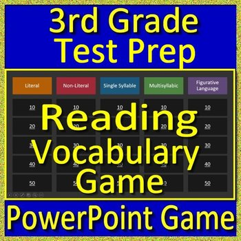 3rd Grade Beginning of the Year Reading Vocabulary Game and Test Prep