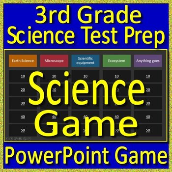 3rd Grade Beginning of the Year Science Game and Test Prep Back to School