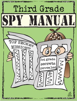 End of the Year Memory Book: 3rd Grade Spy Manual Theme