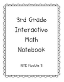 3rd Grade Engage NY Interactive Math Notebook Module 3