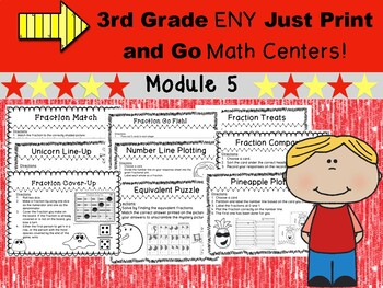 3rd Grade Engage New York (ENY) Just Print and Go Math Centers Module 5