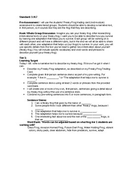 3rd Grade EngageNY ELA Module2A Unit3 End of Module Assessment: Tiered Lesson