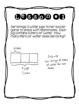 3rd Grade EngageNY/Eureka Math Module 3 - Application Problem Workbook