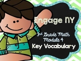 3rd Grade EngageNY/Eureka Math - Module 4 Key Vocabulary D