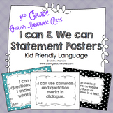 I Can Statements 3rd Grade ELA Posters | I Can & We Can -