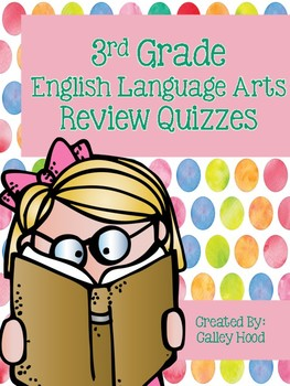 3rd Grade English Language Arts Review Quizzes Test Prep