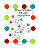 3rd Grade English Language Arts Vocabulary - I Have, Who Has