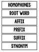 3rd Grade English Word Wall Cards
